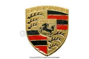PORSCHE 356B 356C 356SC (1960-1965) Hood Emblem (Hood Handle Crest) GENUINE