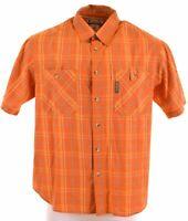 COLUMBIA Mens Shirt Short Sleeve Large Multi Check Cotton  NN26