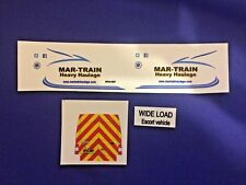 1:43 Scale Mar-Train Escort Van, Clear Waterslide Decals, Tekno, Wsi, Code 3