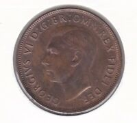 CB1438) Australia 1950 Melbourne Penny, choice uncirculated.