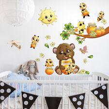 R00365 Wall Stickers Sticker Adesivi Murali Camerette Orsetto api e miele 30x120
