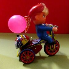 RARE HAPPY DAYS POLICE TRICYCLE 1950'S TIN WIND UP TOY MTU KOREA