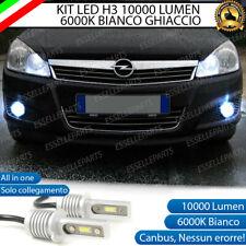 KIT LED FENDINEBBIA OPEL ASTRA H LAMPADE LED H3 BIANCO XENO 10000 LUMEN