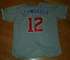 KYLE SCHWARBER 'CHICAGO CUBS' 2016 WORLD SERIES SLUGGER SIGNED JERSEY *COA