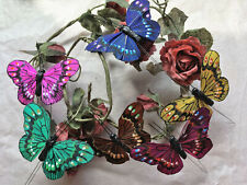 Authentic Style Feather Butterflies - Set of 6 - 7.5cm Wingspan