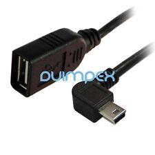 J25 USB cable a arbustos a mini 5 conector izquierda acodada cable alargador
