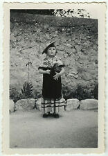 PHOTO ANCIENNE - FILLE DÉGUISEMENT FOLKLORE - GIRL DISGUISE - Vintage Snapshot