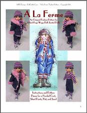 """A La Ferme"" 11 inch Ball Jointed Doll Bjd Kaye Wiggs Fashion Clothing Pattern"