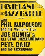 "DIXIELAND JAZZ BATTLE 1950&1954 PHIL NAPOLEON JOE GUMIN PETE DAILY 12"" LP L8147"