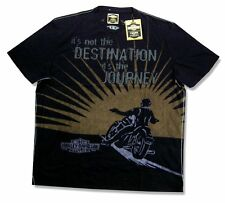 "HARLEY DAVIDSON & TRUNK LTD ""IT'S THE JOURNEY"" BLACK T SHIRT 2XL NEW OFFICIAL"