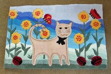 Kooky Cat Hooked Rug