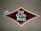 "OLD GUYS RULE "" THE OLDER I GET..BETTER I WAS "" RED DIAMOND BEACH DECAL STICKER"