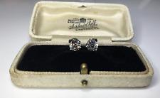 Antique Old European Cut Natural 2.03 CTW Diamond Platinum Stud Earrings