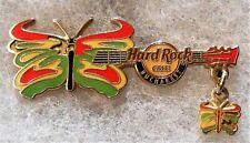 HARD ROCK CAFE BUCHAREST COLORFUL BUTTERFLY DANGLER GUITAR SERIES PIN # 44692