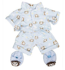 "Teddy Mountain Blue Monkey Jammies w/ Slippers Outift Fits all 14""-18"""