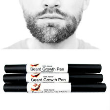 HOT Natural Face Beard Mustache Growth Enhancer Fast Grow Liquid Oil Pen Design