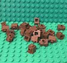 Lego X25 New Reddish Brown Brick 1x1 Modified With Headlight Bulk Parts Lot