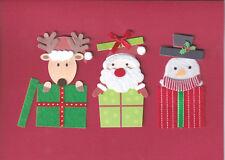 PAPYRUS CHRISTMAS CARD NIP MSRP $7.95 FELT PRESENTS CARD (G3)