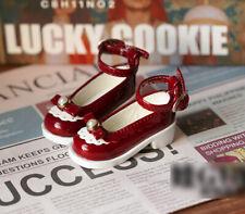 1/4 bjd MSD MDD minifee girl doll dark red color flat shoes dollfie dream