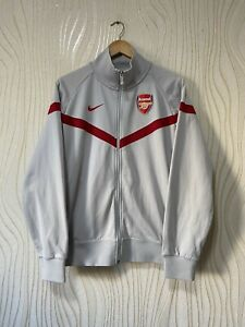 ARSENAL LONDON FOOTBALL SOCCER TRACK TOP JACKET NIKE 380700-011 SPORTSWEAR sz L