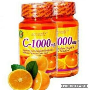 X2 Ascorbic Vitamine C 1000 MG 💯 authentic puissant Antioxydant ( 2 boites)