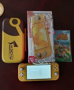 Nintendo switch lite console animal crossing