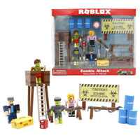 Roblox Zombie Attack Heroes of Robloxia Playset Kid Collection PVC Toy Doll Pack