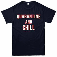 Quarantine and chill t shirt, Social Distancing, Self Isolation Funny Gift Top