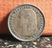 Beautiful Better Grade 1893 Netherlands Silver 10 Cent Coin KM# 116