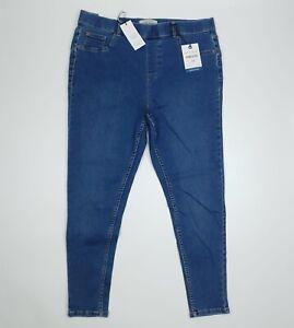 New Look Blue Denim Emilee Lift & Shape Skinny Leg Jeggings UK 16 SHORT BNWT