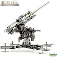 Metal Earth ICONX WWII German Flak Gun 88 DIY Laser Cut 3D Model Building Kit