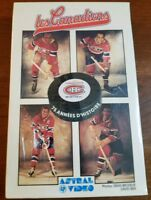 LES CANADIENS  (The Canadiens) A 75 YEAR HISTORY - SEALED  VHS VIDEOTAPE!!