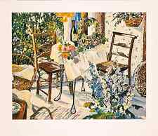 """Susan Rios - """"Inn at Ampes"""", hand-signed serigraph on paper"""