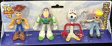 Toy Story 4 Woody, Buzz, Forky, and Bo Peep Flextreme Figures; 3+