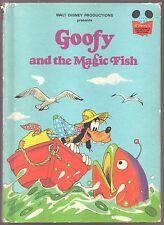 Vintage Disney's Wonderful World of Reading Book GOOFY AND THE MAGIC FISH 1st Ed