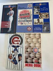 5 Chicago CUBS Media Guides (1984, 1985, 1988, 1990, 1991) VGC