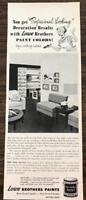 ORIGINAL 1953 Lowe Brothers Paint Dayton Ohio Print Ad New Stylist Colors