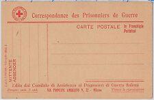 RED CROSS ---- ITALY - POSTAL HISTORY - POSTCARD : POW FIELD POST  franchigia