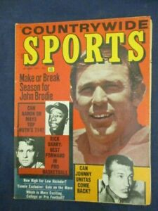 Vintage Sports Magazine Oct 1971 Countrywide Sports John Brodie Hank Aaron