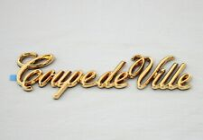 "1984-1993 CADILLAC ""COUPE DEVILLE"" 24K GOLD PLATED REAR SIDE EMBLEM-20440998 NEW"
