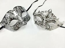 Luxury Masquerade Mask Set - His & Hers Mask [Silver Themed] - Bestselling Men's