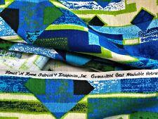 6YDS California Contemporary Barkcloth Vintage Fabric Mid Century 1960's Vibe