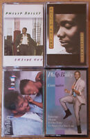 4x PHILIP BAILEY CASSETTE TAPES - FAMILY AFFIAR, INSIDE OUT ETC - ALL EXCELLENT