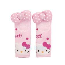 New Cute Hello Kitty Car Accessory Seat Belt Covers Soft Pads 17cm 2pcs Set Gift