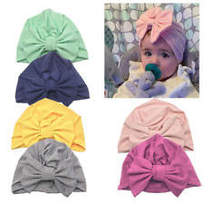 Baby Infant Girl Bow Beanie Pure Cotton Comfy Turban Hospital Cap Hat Gift 0-12M
