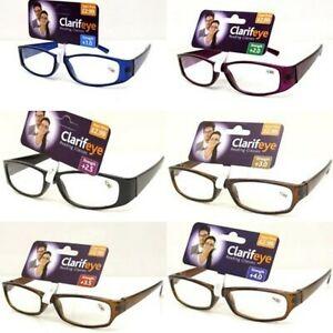 "Reading Glasses Lightweight ""Clarifeye"" UniSex Designer Style Foldable glasses"