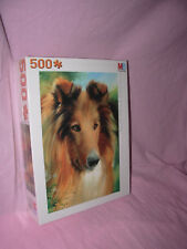 /// PUZZLE THE DOG / SERIE CHIEN / COLLEY COLLIE 500 PIECES MB NEUF ///