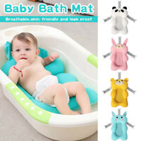 Newborn Shower Mat Infant Bathtub Baby Bath Tub Pillow Pad Lounger Air Cushion`