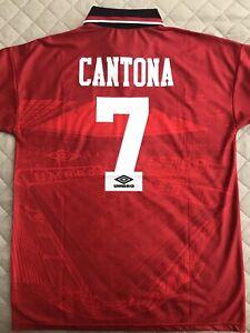 Manchester Utd 1994-96 Home Shirt Jersey Eric Cantona 7 Man Utd Retro Vintage