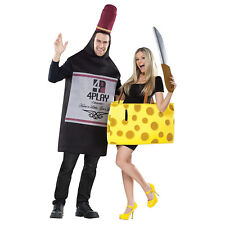FunWorld Perfectly Paired Wine And Cheese Couple Costume Set